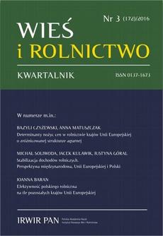 Wieś i Rolnictwo nr 3(172)/2016