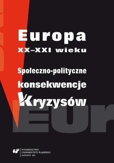 Europa XX-XXI wieku. Społeczno-polityczne konsekwencje kryzysów