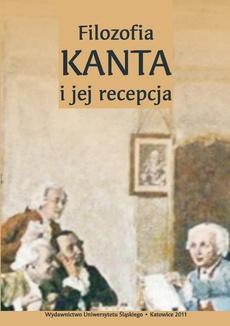 Filozofia Kanta i jej recepcja - 15 Recepcja myśli Kanta w filozofii Hartmanna i Heideggera. Problem relacji między filozofią a naukami szczegółowymi