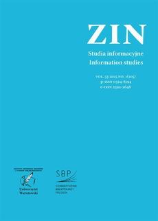 Zagadnienia Informacji Naukowej Vol. 53 2015 no. 1(105)