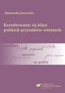 Kształtowanie się klasy polskich przyimków wtórnych - 01 Status przyimka. Granice klasy przyimków wtórnych