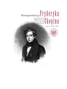 Korespondencja Fryderyka Chopina, tom 1, 1816-1831