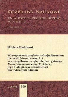 Występowanie grzybów rodzaju Fusarium