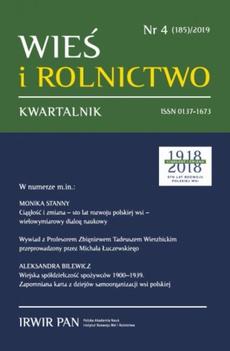 Wieś i Rolnictwo nr 4(185)/2019