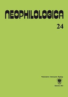 Neophilologica. Vol. 24: Études sémantico-syntaxiques des langues romanes - 19 Adquisición de los patrones entonativos espanoles por los alumnos polacos de ELE: una aproximación