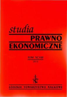 Studia Prawno-Ekonomiczne t. 98