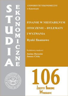 Finanse w niestabilnym otoczeniu - dylematy i wyzwania. Rynki finansowe. SE 106