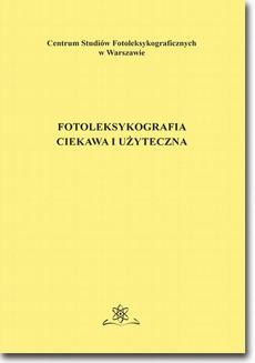 Fotoleksykografia ciekawa i użyteczna