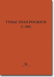 Tysiąc zdań polskich {1-500}