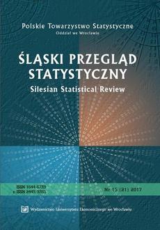 Śląski Przegląd Statystyczny 15(21) 2017