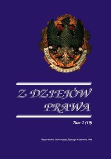 Z Dziejów Prawa. T. 2 (10) - 13 Kronika