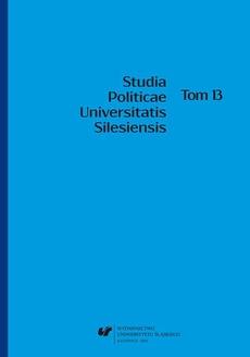 Studia Politicae Universitatis Silesiensis. T. 13 - 03 Evolution of the Polish political regime in the period of democratic transition