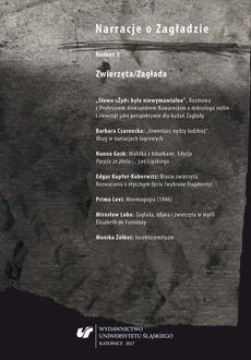 """""""Narracje o Zagładzie"""" 2017, nr 3: Zwierzęta/Zagłada - 02 Zagłada, ofiara i zwierzęta w myśli Elisabeth de Fontenay"""