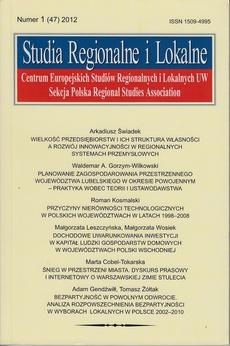 Studia Regionalne i Lokalne nr 1(47)/2012