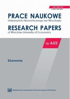 Prace Naukowe Uniwersytetu Ekonomicznego we Wrocławiu nr 449. Ekonomia