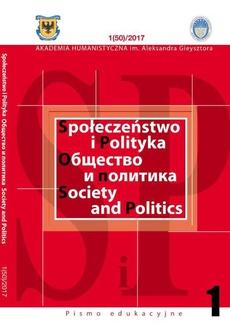Społeczeństwo i Polityka Nr 1 (48)/2016