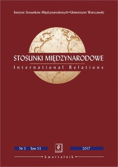 Stosunki Międzynarodowe nr 3(53)/2017 - Zhang Chunyan, Zeng Xiangyu: Water Crises, Water Disputes and Water Cooperation: New Perspectives for Sino-Indian Relations, doi 10.7366/020909613201708