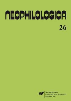 """""""Neophilologica"""" 2014. Vol. 26: Le concept d'événement et autres études"""