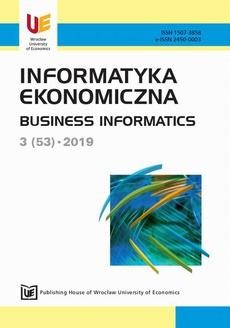Informatyka ekonomiczna 3(53)