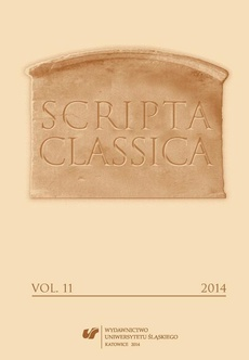 "Scripta Classica. Vol. 11 - 01 Latin in the Contemporary Polish ""Street Epigraphy"""