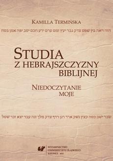 """Studia z hebrajszczyzny biblijnej - 11 """"Intensivum"""""""