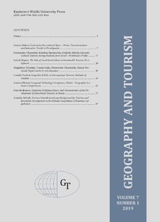 Geography and Tourism 2019 volume 7 number 1