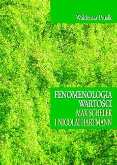Fenomenologia wartości Max Scheler i Nicolai Hartmann