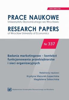 Badania marketingowe - kontekst funkcjonowania przedsiębiorstw i sieci organizacyjnych
