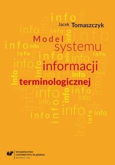 Model systemu informacji terminologicznej - 03 Zarządzanie informacją terminologiczną