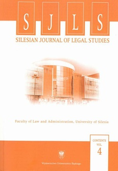"""""""Silesian Journal of Legal Studies"""". Contents Vol. 4 - 05 The Integration of the Mortgage Markets in Europe (Part 2)"""