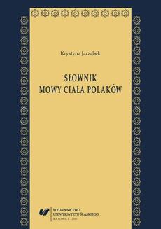 Słownik mowy ciała Polaków - 02 Grupy znaczeniowe i hasła_od hasła Akceptacja_do hasła Namysł