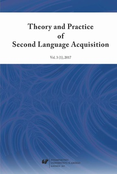 """""""Theory and Practice of Second Language Acquisition"""" 2017. Vol. 3 (1)"""
