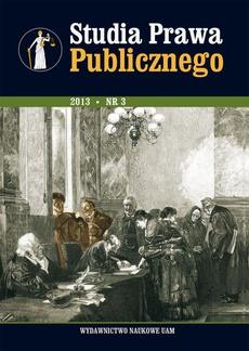 Studia Prawa Publicznego 3/2013