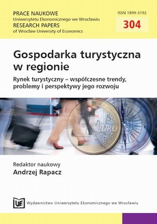 Gospodarka turystyczna w regionie. Rynek turystyczny - współczesne trendy, problemy i perspektywy jego rozwoju. PN 304