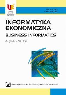 Informatyka ekonomiczna 4(54)