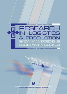 Research in Logistics & Production - Badania w dziedzinie logistyki i produkcji, Vol. 2, No. 2, 2012
