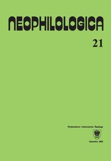Neophilologica. Vol. 21: Études sémantico-syntaxiques des langues romanes - 01 Autour de la notion de prédicat