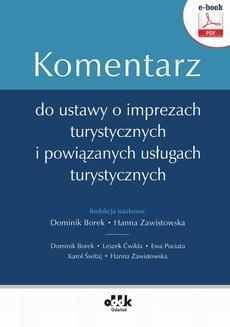 Komentarz do ustawy o imprezach turystycznych i powiązanych usługach turystycznych (e-book)