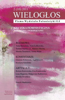 Wielogłos. Pismo Wydziału Polonistyki UJ 2 (10) 2011