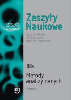 Zeszyty Naukowe Uniwersytetu Ekonomicznego w Krakowie nr 884. Metody analizy danych