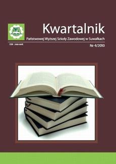 Kwartalnik Państwowej Wyższej Szkoły Zawodowej w Suwałkach nr 4/2010