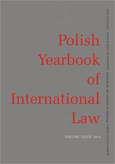 2014 Polish Yearbook of International Law vol. XXXIV