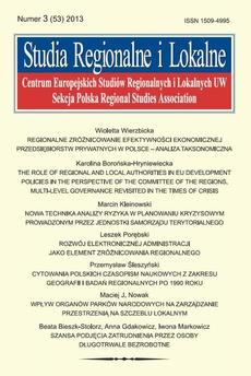 Studia Regionalne i Lokalne nr 3(53)/2013