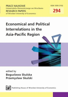 Economical and Political Interrelations in the Asia-Pacific Region. PN 294