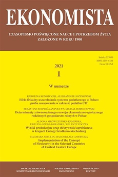 Ekonomista 2021 nr 7 - Implementation of the Concept of Flexicurity in the Selected Countries of Central Eastern Europe