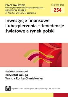 Inwestycje finansowe i ubezpieczenia - tendencje światowe a rynek polski