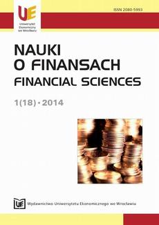 Nauki o Finansach 2014, nr 1 (18)