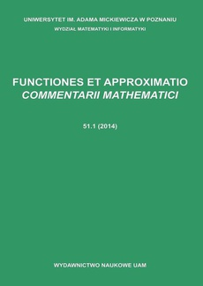 Functiones et approximatio commentarii mathematici 51.1 (2014)