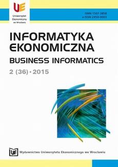 Informatyka Ekonomiczna 2(36)