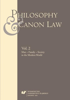"""""""Philosophy and Canon Law"""" 2016. Vol. 2 - 15 Femininity and Masculinity as a Legal Issue"""